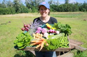 Zöldségdoboz közvetlenül a termelőtől